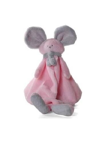 Dimpel lappenmuis Mona roze/grijs