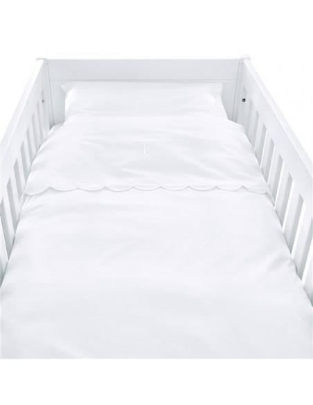 Donsovertrek bed TP Royal white bekken