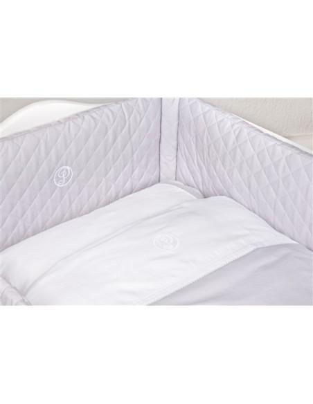 Bedbeschermer Poetree Oxford grey