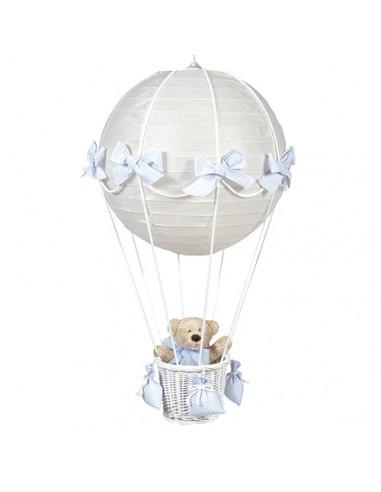 Luster luchtballon beer bl ruitjes
