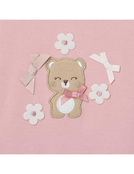 Mayoral pyjama roze beer strikjes bloemen