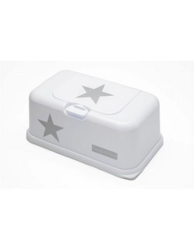 Hoes vochtige doekjes doos groot wit ster zilver funkybox