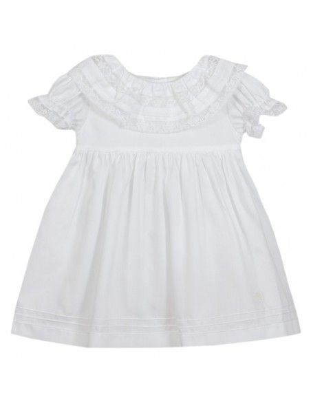 Patachou kleed wit kanten kraag