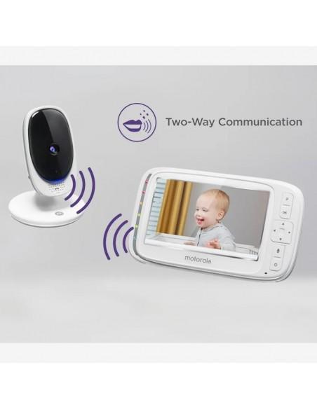 Babyfoon Motorola Comfort 50 vaste camera baby en 5 inch scherm ouders