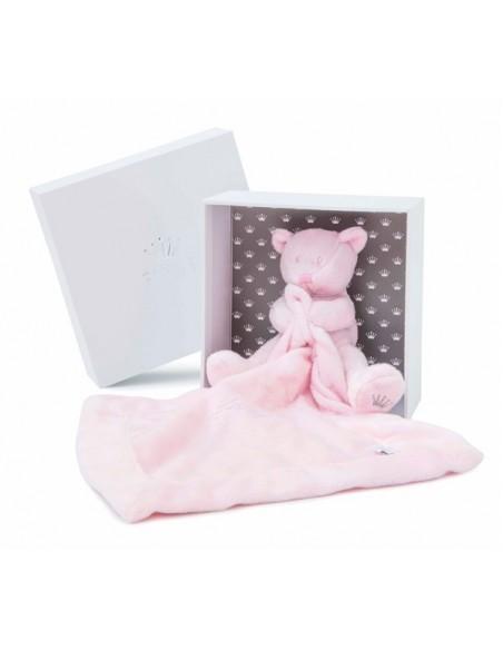 First lappenbeer roze 16cm pretty pink in doos