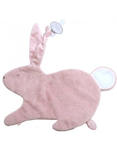 Dimpel konijn doudou classic korte haren roze Emma
