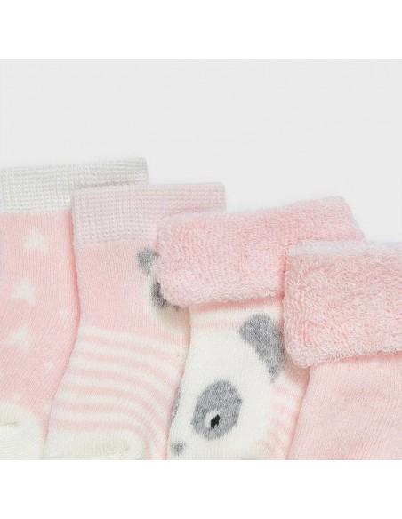 Mayoral kousen roze/wit set van 4